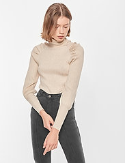 Soft Rebels - SRMarla LS Rollneck Slim Knit - turtlenecks - whitecap gray - 0