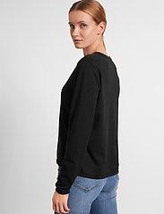 Soft Rebels - Zara O-neck Knit Roll Edge - trøjer - black - 3