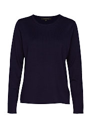 Zara O-neck Knit Roll Edge - TOTAL ECLIPSE