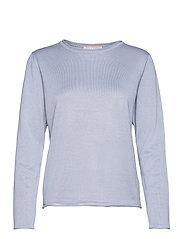 SRMarla O-neck Knit Roll Edge - ZEN BLUE