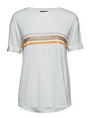 Elvaline T-shirt - SNOW WHITE / OFF WHITE