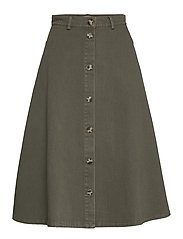 Sanbina Midi Skirt - GRAPE LEAF