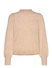 SRTamara LS O-neck Knit - WHITE PEPPER