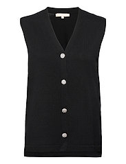 SRLisa V-neck Vest Cardigan Knit - BLACK