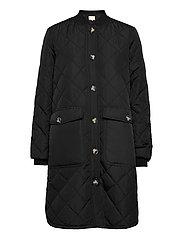SREileen LS Quilt Coat - BLACK