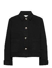 SRLauren LS Short Loose Jacket - BLACK