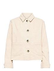 SRLauren LS Short Loose Jacket - SNOW WHITE / OFF WHITE