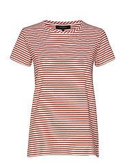 Elle T-shirt y/d stripes - GINGER SPICE