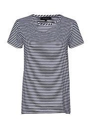 Elle T-shirt y/d stripes - TOTAL ECLIPSE