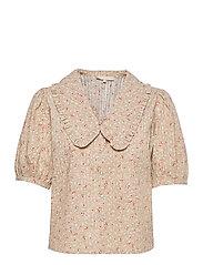 SRDana 2/4 Shirt Printed - TINY FLOWER PEPPER