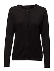 Zara Cardigan O-neck - 001 BLACK