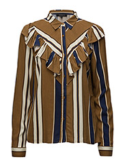 Dorthe Shirt - 680 DORTHE PRINT W. SUDAN BROWN