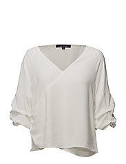 Jenna Wrap Blouse - OFF WHITE