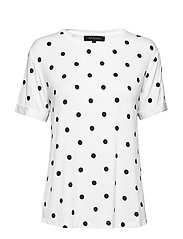 Dotted T-shirt - SNOW WHITE / OFF WHITE