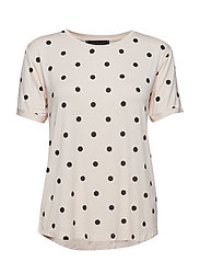 Dotted T-shirt - VANILLA CREAM