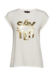 Sayyes T-shirt - SNOW WHITE / OFF WHITE