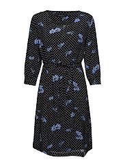 Karlin Dress - DOT FLOWER PRINT