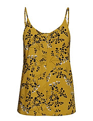Karoline Strap Top - LEAF PRINT - CEYLON YELLOW