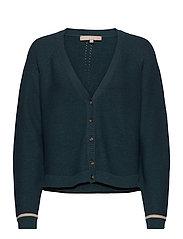 Rasanna V-neck Cardigan Knit - HYDRO