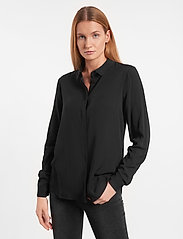 Soft Rebels - SRFreedom LS Shirt - long-sleeved shirts - black - 0