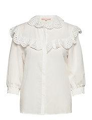 Nelly 3/4 shirt - SNOW WHITE / OFF WHITE