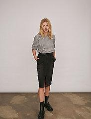 Soft Rebels - Mate 3/4 Top - long sleeved blouses - black - 0