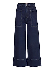 Janet High Waist Jeans - RINSE WASH BLUE