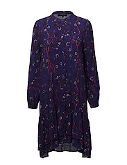 Smila Dress - 794 SMILA PURPLE PRINT