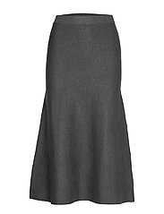 Henrietta Long Skirt - ANTRAZIT GREY MELANGE