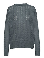 Calby O-neck Knit - BLUE MIRAGE