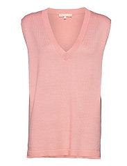 Marla V-neck Loose Fit Knit Vest - QUARTZ PINK