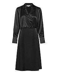 SREliza Wrap Dress - BLACK