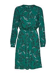 Leaf LS Dress - EVERGREEN
