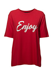 Enjoy T-shirt - SPIZY RED