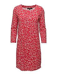 Fiona Plain Dress - FIONA PRINT HOT RED