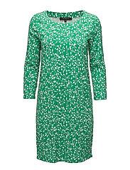 Fiona Plain Dress - FIONA PRINT JOLLY GREEN