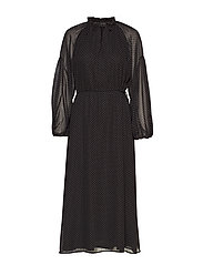 Diana LS Ankle Dress - BLACK