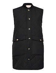 SREileen Quilt Vest - BLACK