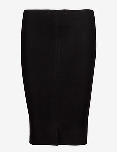 Henrietta Tube Skirt - midinederdele - 001 black