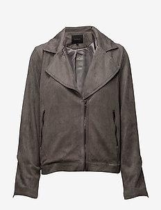Easa Jacket - kurtki skórzane - 015 ash grey
