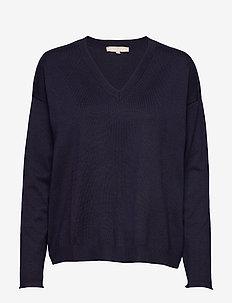 Zara V-neck Knit - swetry - total eclipse