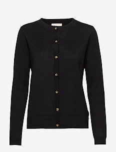 Zara New O-neck Cardigan - cardigans - black