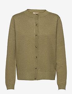 SRMarla New O-neck Cardigan - cardigans - olive drab melange