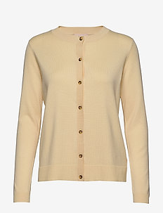 Zara New O-neck Cardigan - vesten - pineapple slice