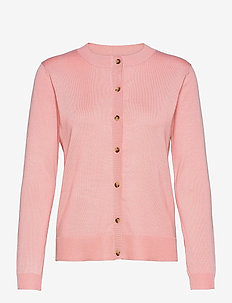 SRMarla New O-neck Cardigan - cardigans - quartz pink