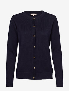 Zara New O-neck Cardigan - vesten - total eclipse