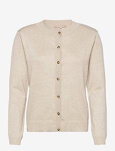 SRMarla New O-neck Cardigan - cardigans - whitecap gray