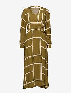 Whonda Ankle Dress - robes chemises - whonda nutria print