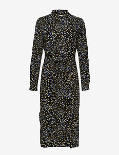 Flora LS Long Shirt - robes chemises - flora multi print