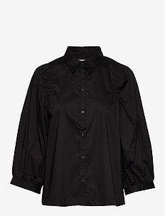 Joanne 3/4 Shirt - langærmede skjorter - black